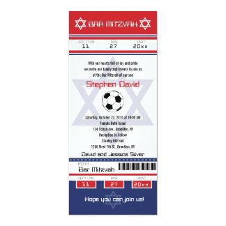Bar Mitzvah Soccer Ticket Invitation