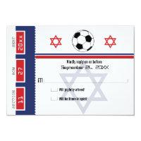 Bar Mitzvah Soccer Ticket RSVP Card