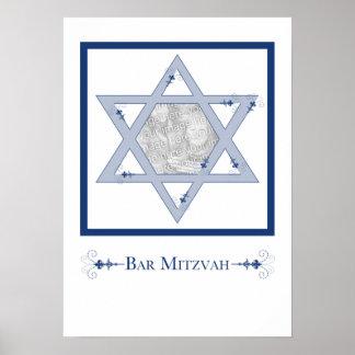 bar mitzvah (star of david elegance photo gift) poster
