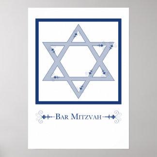 bar mitzvah (star of david elegance) poster