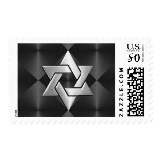 Bar Mitzvah Star of David on Any Color Postage