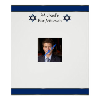 Bar Mitzvah, Star of David, Photo, Sign in Board