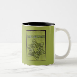 Bar Mitzvah Star of David Two-Tone Coffee Mug