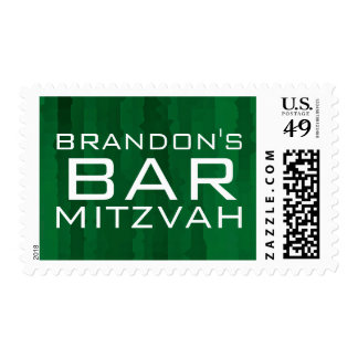 Bar Mitzvah Techno Streaks Postage Stamps