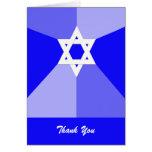 Bar Mitzvah Thank You Card -- Blue Star of David