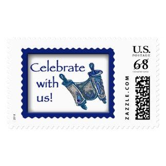 Bar Mitzvah Torah Postage Stamp