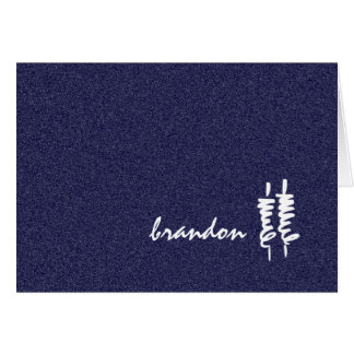 Bar Mitzvah White Torah Scrolls on Any Color Stationery Note Card