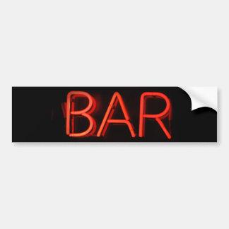 Bar Neon Sign Bumper Sticker Car Bumper Sticker