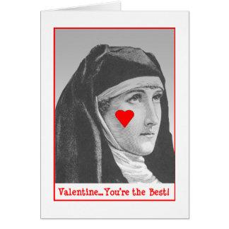 Bar Nun  Valentine Greeting Card
