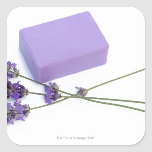 Bar of lavender soap made from 100% natural oils sticker