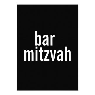 Bar or Bat Mitzvah Announcements