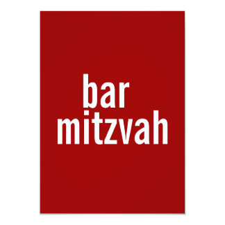 Bar or Bat Mitzvah Announcements {Red}