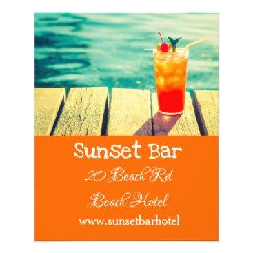 Bar or nightclub beach bar flyer