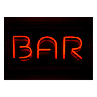 BAR Red Neon Sign Large Business Cards (Pack Of 100)