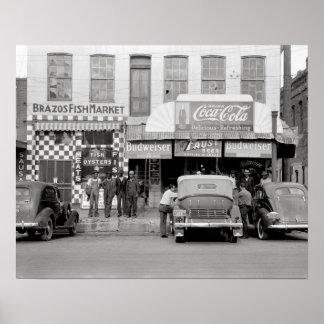 Bar & Restaurant, 1939. Vintage Photo Poster