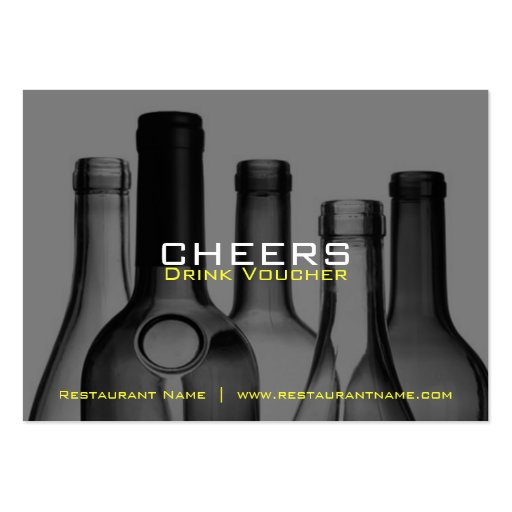 Bar & Restaurant Drink Vouchers and Coupons Business Card Templates
