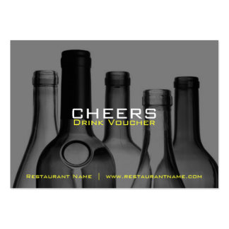 Bar & Restaurant Drink Vouchers and Coupons Large Business Card