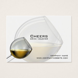Bar, Restaurant or Winery Drink Vouchers Business Card