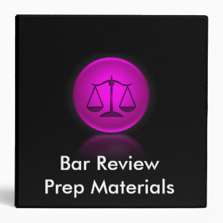 Bar Review Binder