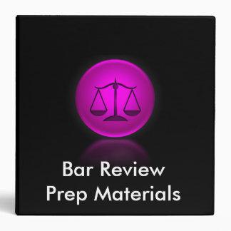 Bar Review Binder