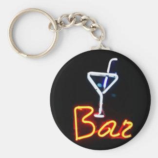 Bar Sign Basic Round Button Keychain