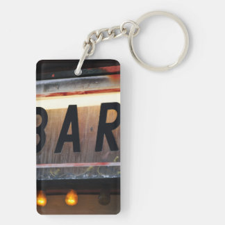 Bar Sign Double-Sided Rectangular Acrylic Keychain