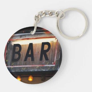 Bar Sign Double-Sided Round Acrylic Keychain