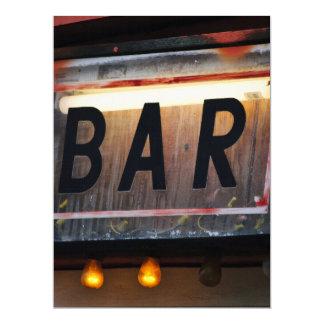 """Bar Sign 6.5"""" X 8.75"""" Invitation Card"""