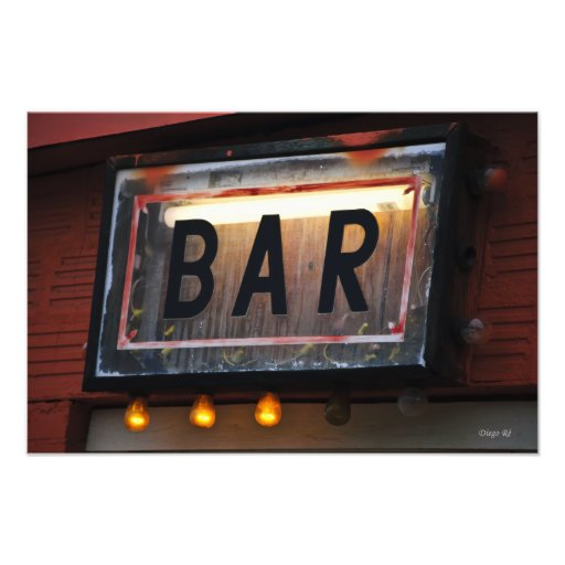 Bar Sign Photo Print