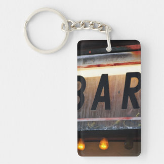 Bar Sign Single-Sided Rectangular Acrylic Keychain
