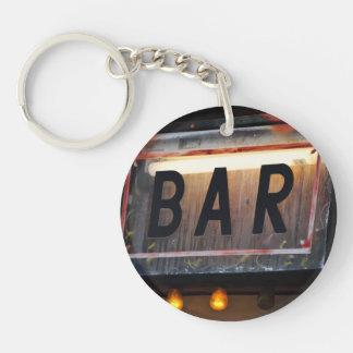 Bar Sign Single-Sided Round Acrylic Keychain