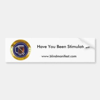 Bar Stimulus Plan Bumper Sticker