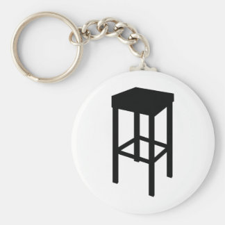 bar stool basic round button keychain