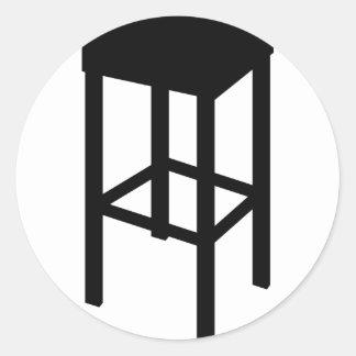 bar stool classic round sticker