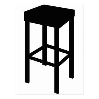 bar stool postcard