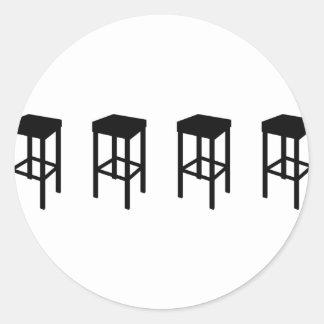bar stools classic round sticker