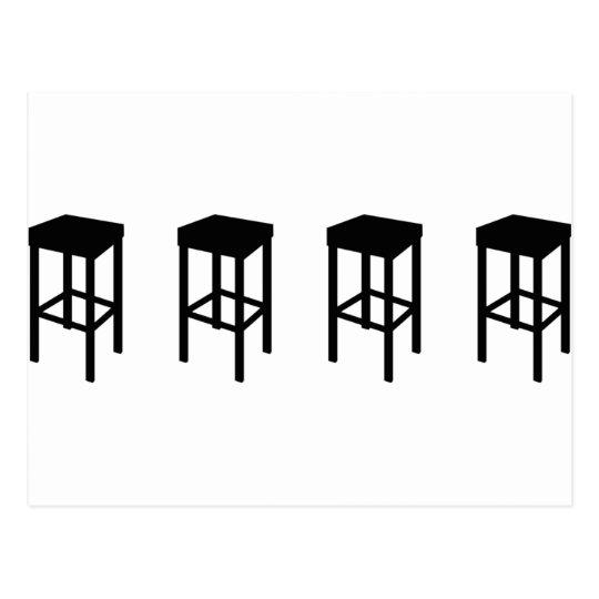 bar stools postcard