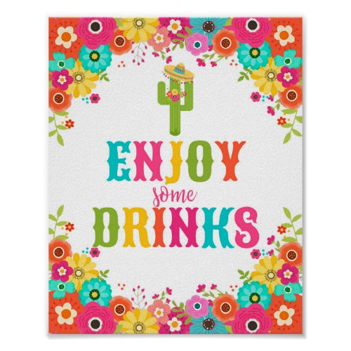 Bar Table Sign_Poster Mexican Fiesta Theme Poster