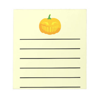 Bar Teeth Jack-O-'Lantern Notepad