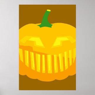 Bar Teeth Jack-O-'Lantern Poster