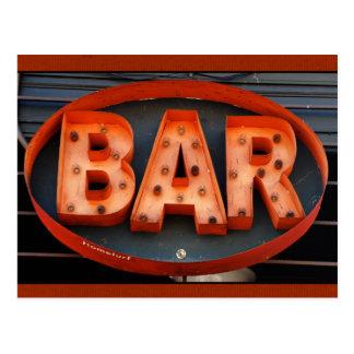 Bar Time - Hip Vintage Bar Photograph Postcard
