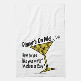 BAR TOWELS Dinner! Olives? Medium or Rare?