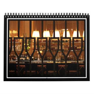 Bar vacío calendarios de pared