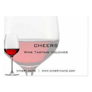 Bar, Winery & Restuarant Drink Vouchers & Coupons Large Business Card