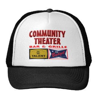Bar y grill del teatro de la comunidad gorras