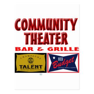 Bar y grill del teatro de la comunidad postal