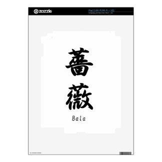 Bara  name translated into Japanese kanji symbols iPad 2 Skin