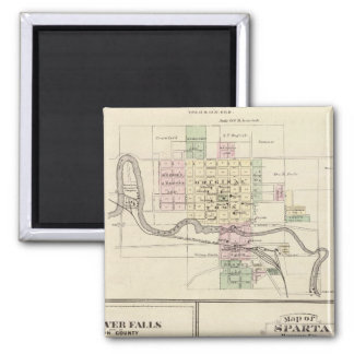Baraboo, Black River Falls and Sparta 2 Inch Square Magnet