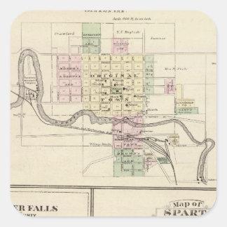 Baraboo, Black River Falls and Sparta Square Sticker