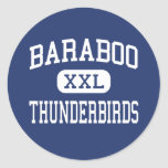 Baraboo Thunderbirds Middle Baraboo Classic Round Sticker